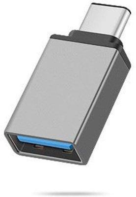 USB-C 3.1 naar USB 3.0 A Female Adapter met OTG functie voor onder andere Macbook en Chromebook. | Zwart / Grijs