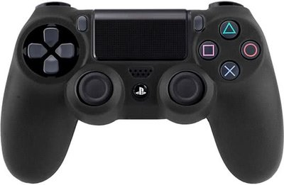 Silicone Hoes / Skin voor Playstation 4 PS4 Controller Zwart