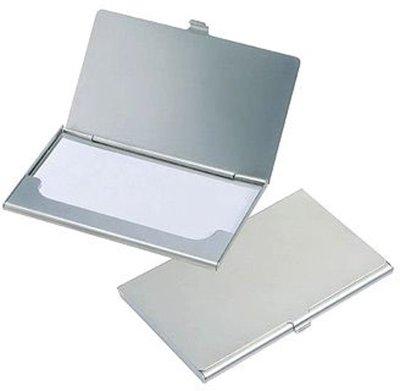 Aluminium Kaartjes Visitekaartjes Houder Doosje Zilver