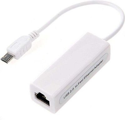 J&S Supply USB Micro naar RJ45 Ethernet adapter - 0,10 meter