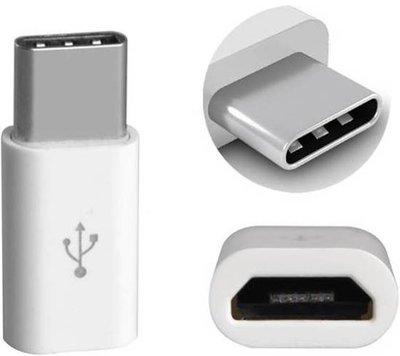 Micro USB naar USB C - converter - Android adapter - WIT - Underdog Tech