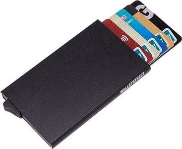 Basic Walletstreet Uitschuifbare Pasjeshouder - Aluminium Creditcardhouder Card Protector Anti-Skim/ RFID Card Protector 7 Pasjes - Zwart