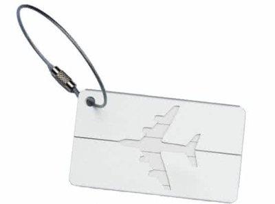 Aluminium Adres Koffer Bagage Label Tag Zilver Grijs