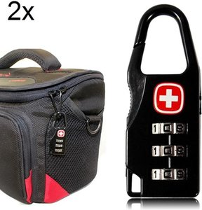 2x kofferslot bagageslotje Hangslot met cijferslot